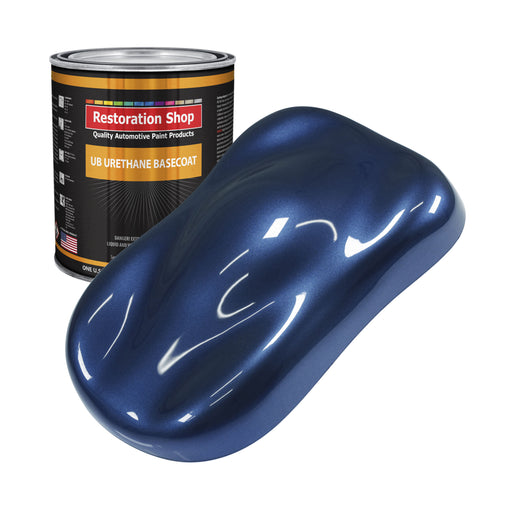 Sapphire Blue Metallic - Urethane Basecoat Auto Paint - Gallon Paint Color Only - Professional High Gloss Automotive, Car, Truck Coating