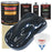 Restoration Shop - Dark Midnight Blue Pearl Urethane Basecoat with Premium Clearcoat Auto Paint - Complete Medium Gallon Paint Kit - Professional High Gloss Automotive, Car, Truck Refinish Coating