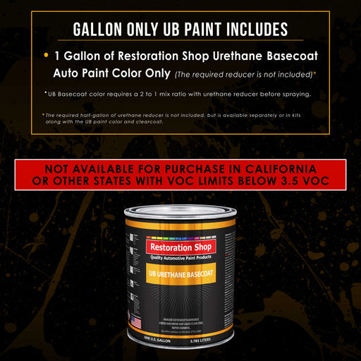 Silver Aqua Metallic - Urethane Basecoat Auto Paint - Gallon Paint Color Only - Professional High Gloss Automotive, Car, Truck Coating