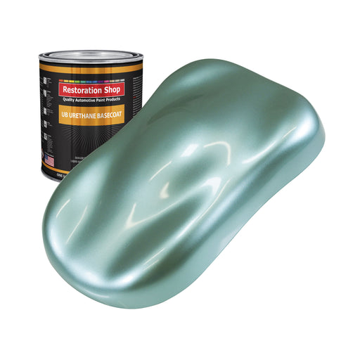 Silver Aqua Metallic - Urethane Basecoat Auto Paint - Quart Paint Color Only - Professional High Gloss Automotive, Car, Truck Coating