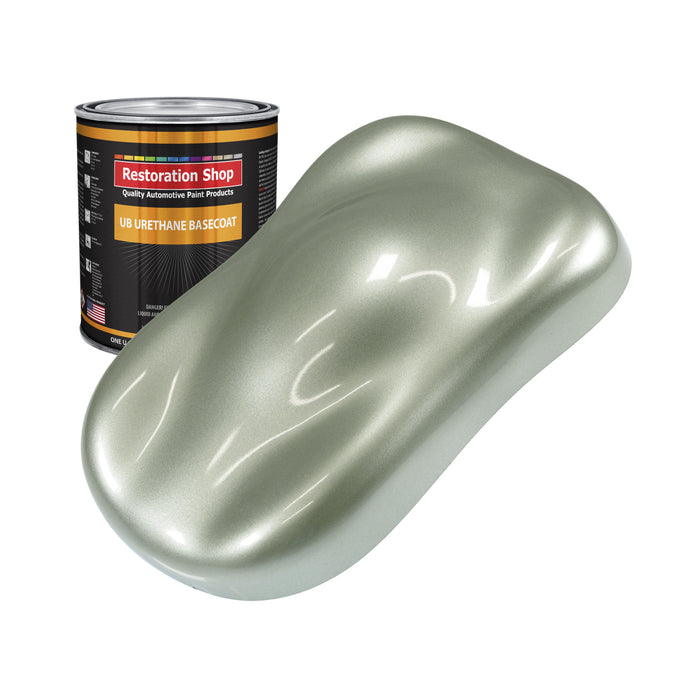 Sage Green Metallic - Urethane Basecoat Auto Paint - Quart Paint Color Only - Professional High Gloss Automotive, Car, Truck Coating