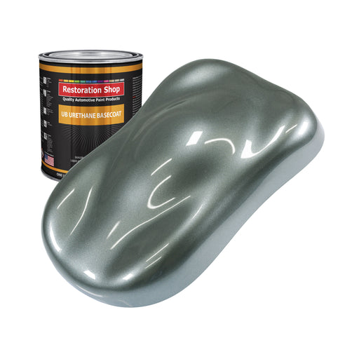 Steel Gray Metallic - Urethane Basecoat Auto Paint - Quart Paint Color Only - Professional High Gloss Automotive, Car, Truck Coating