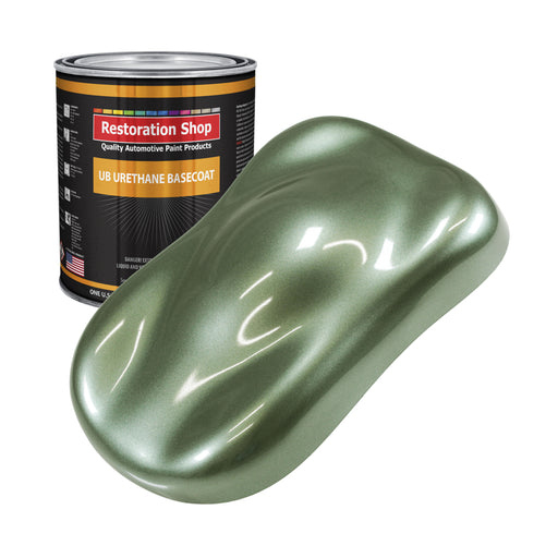 Fern Green Metallic - Urethane Basecoat Auto Paint - Gallon Paint Color Only - Professional High Gloss Automotive, Car, Truck Coating