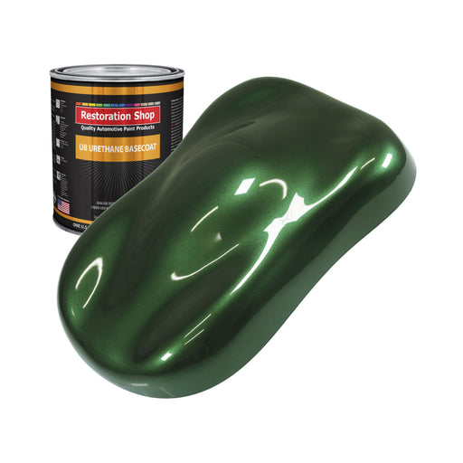British Racing Green Metallic - Urethane Basecoat Auto Paint - Quart Paint Color Only - Professional High Gloss Automotive, Car, Truck Coating