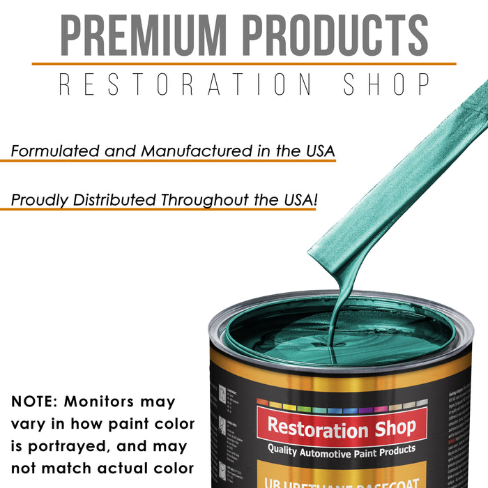 Dark Teal Metallic - Urethane Basecoat with Premium Clearcoat Auto Paint - Complete Fast Gallon Paint Kit - Professional High Gloss Automotive Coating