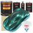 Dark Teal Metallic - Urethane Basecoat with Premium Clearcoat Auto Paint - Complete Medium Gallon Paint Kit - Professional High Gloss Automotive Coating