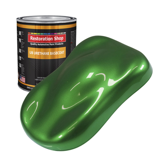 Gasser Green Metallic - Urethane Basecoat Auto Paint - Gallon Paint Color Only - Professional High Gloss Automotive, Car, Truck Coating