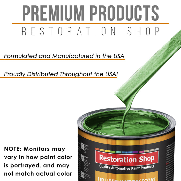 Gasser Green Metallic - Urethane Basecoat with Clearcoat Auto Paint - Complete Slow Gallon Paint Kit - Professional High Gloss Automotive, Car, Truck Coating