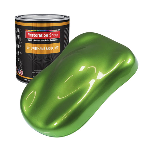 Synergy Green Metallic - Urethane Basecoat Auto Paint - Gallon Paint Color Only - Professional High Gloss Automotive, Car, Truck Coating