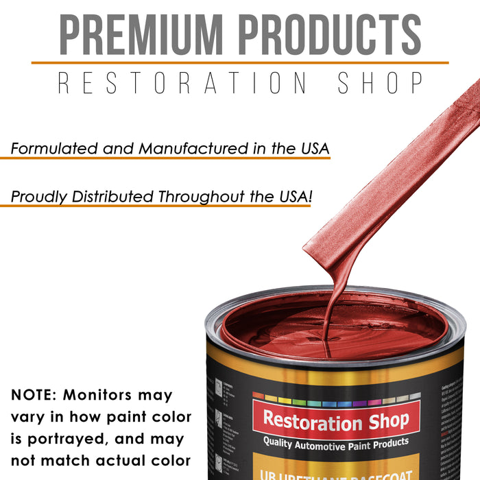 Firethorn Red Pearl - Urethane Basecoat with Clearcoat Auto Paint - Complete Fast Gallon Paint Kit - Professional High Gloss Automotive, Car, Truck Coating