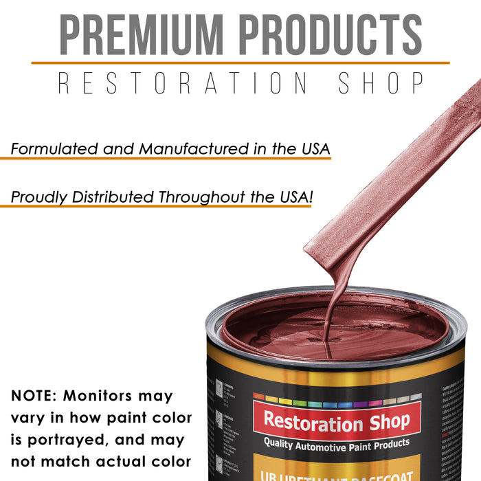 Candy Apple Red Metallic - Urethane Basecoat with Clearcoat Auto Paint - Complete Slow Gallon Paint Kit - Professional High Gloss Automotive, Car, Truck Coating