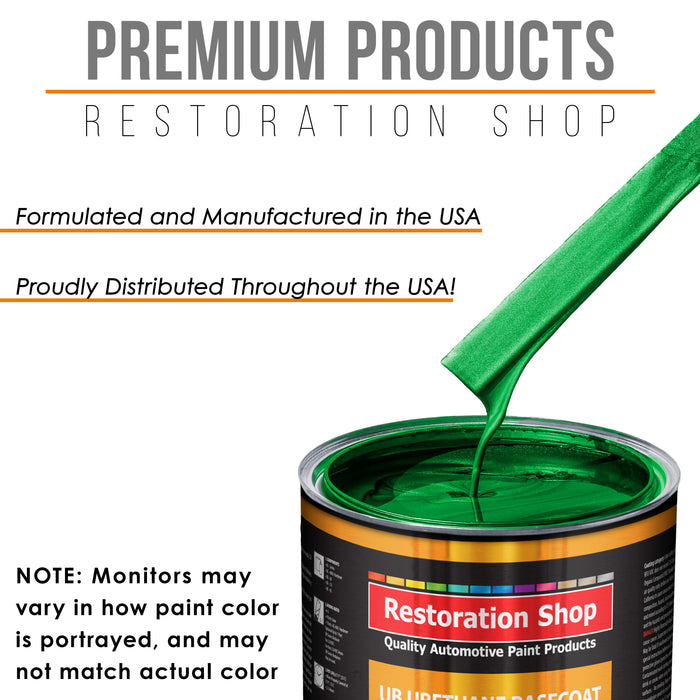 Firemist Green - Urethane Basecoat with Premium Clearcoat Auto Paint - Complete Slow Gallon Paint Kit - Professional High Gloss Automotive Coating