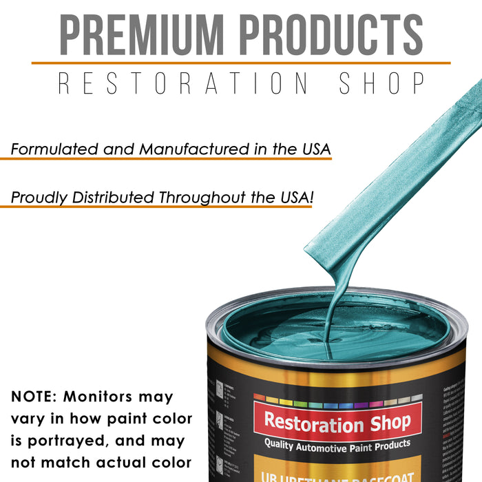 Aquamarine Firemist - Urethane Basecoat with Premium Clearcoat Auto Paint - Complete Slow Gallon Paint Kit - Professional High Gloss Automotive Coating