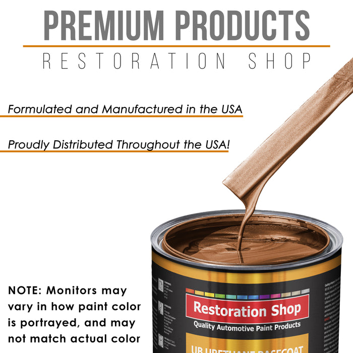 Firemist Copper - Urethane Basecoat Auto Paint - Quart Paint Color Only - Professional High Gloss Automotive, Car, Truck Coating
