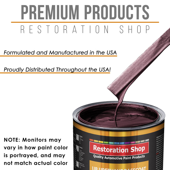 Milano Maroon Firemist - Urethane Basecoat with Clearcoat Auto Paint - Complete Medium Gallon Paint Kit - Professional High Gloss Automotive, Car, Truck Coating