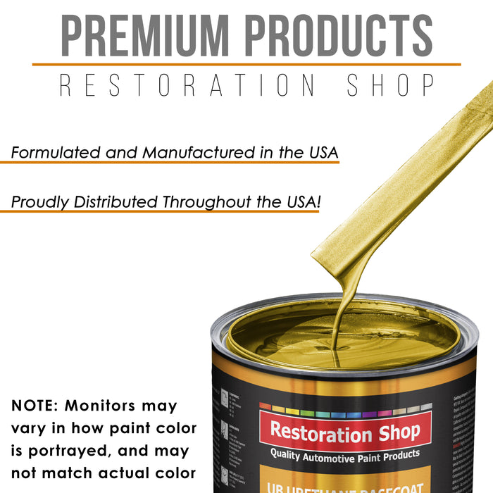 Saturn Gold Firemist - Urethane Basecoat with Premium Clearcoat Auto Paint - Complete Fast Gallon Paint Kit - Professional High Gloss Automotive Coating