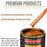 Firemist Orange - Urethane Basecoat with Clearcoat Auto Paint - Complete Slow Gallon Paint Kit - Professional High Gloss Automotive, Car, Truck Coating