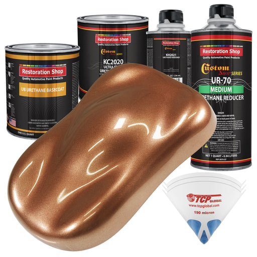 Bronze Firemist - Urethane Basecoat with Premium Clearcoat Auto Paint - Complete Medium Quart Paint Kit - Professional High Gloss Automotive Coating