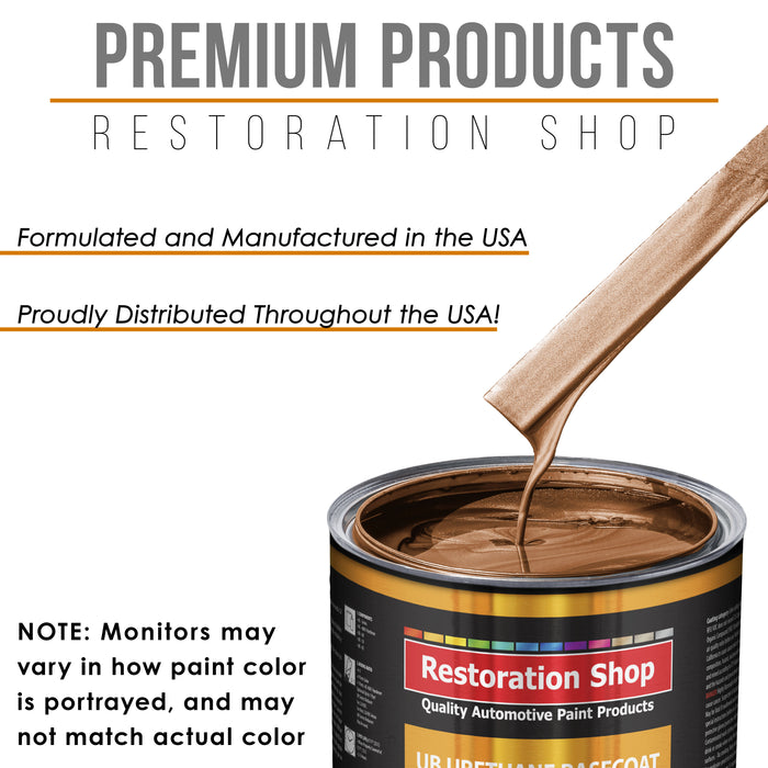 Bronze Firemist - Urethane Basecoat with Premium Clearcoat Auto Paint - Complete Slow Gallon Paint Kit - Professional High Gloss Automotive Coating