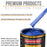 Cobalt Blue Firemist - Urethane Basecoat with Premium Clearcoat Auto Paint - Complete Fast Gallon Paint Kit - Professional High Gloss Automotive Coating