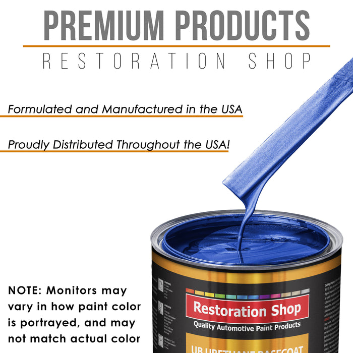 Cobalt Blue Firemist - Urethane Basecoat with Clearcoat Auto Paint - Complete Medium Quart Paint Kit - Professional High Gloss Automotive, Car, Truck Coating