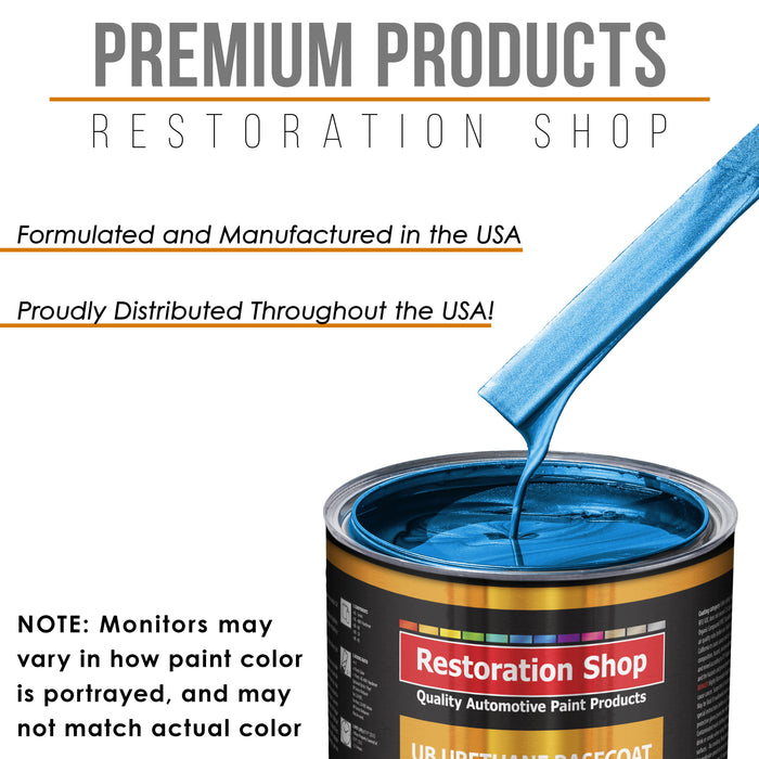 True Blue Firemist - Urethane Basecoat with Clearcoat Auto Paint - Complete Fast Gallon Paint Kit - Professional High Gloss Automotive, Car, Truck Coating