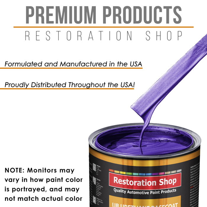 Firemist Purple - Urethane Basecoat with Premium Clearcoat Auto Paint - Complete Medium Gallon Paint Kit - Professional High Gloss Automotive Coating
