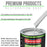 Classic White - LOW VOC Urethane Basecoat with Clearcoat Auto Paint - Complete Medium Gallon Paint Kit - Professional High Gloss Automotive Coating