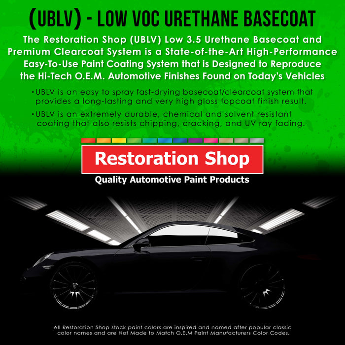 Classic White - LOW VOC Urethane Basecoat with Clearcoat Auto Paint - Complete Slow Gallon Paint Kit - Professional High Gloss Automotive Coating