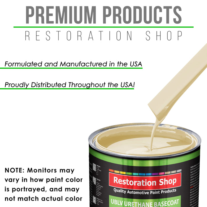 Wimbledon White - LOW VOC Urethane Basecoat with Clearcoat Auto Paint - Complete Medium Quart Paint Kit - Professional High Gloss Automotive Coating