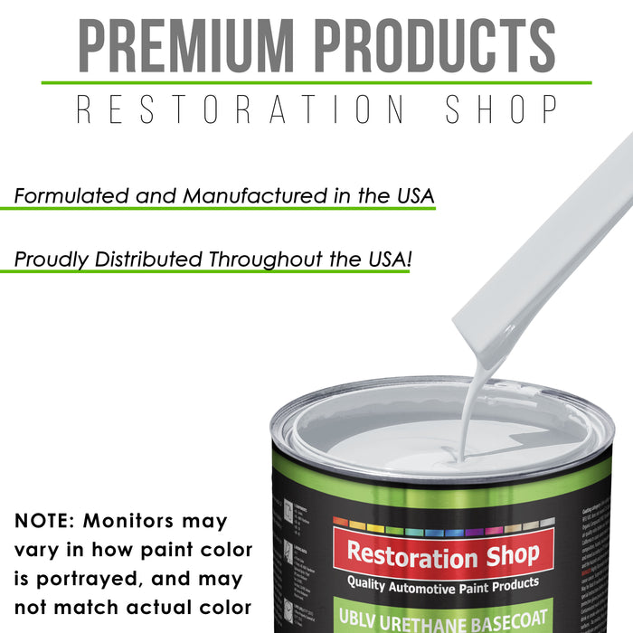 Winter White - LOW VOC Urethane Basecoat with Clearcoat Auto Paint - Complete Slow Gallon Paint Kit - Professional High Gloss Automotive Coating