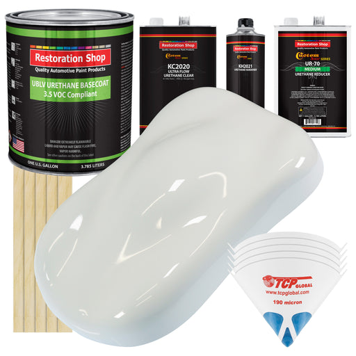 Pure White - Premium Medium, 3.5 Low VOC Urethane Basecoat Automotive Car Paint, 1 Gallon Kit