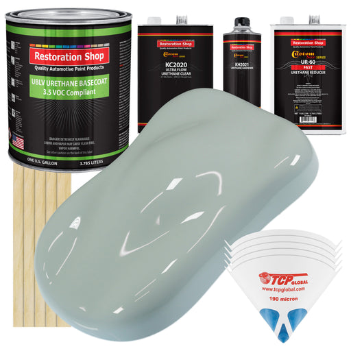 Classic White - LOW VOC Urethane Basecoat with Premium Clearcoat Auto Paint - Complete Fast Gallon Paint Kit - Professional High Gloss Automotive Coating