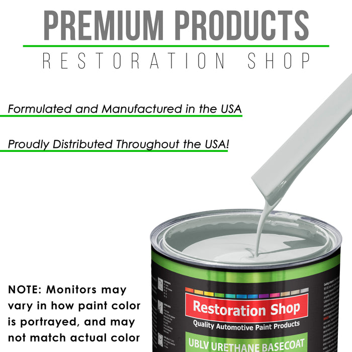 Cameo White - LOW VOC Urethane Basecoat with Premium Clearcoat Auto Paint - Complete Fast Gallon Paint Kit - Professional High Gloss Automotive Coating