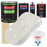 Wispy White - LOW VOC Urethane Basecoat with Clearcoat Auto Paint - Complete Fast Gallon Paint Kit - Professional High Gloss Automotive Coating