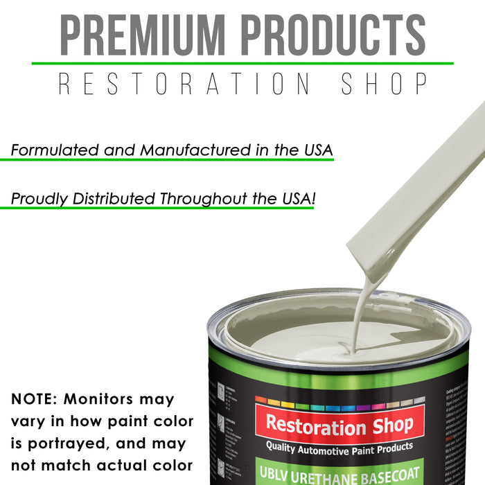 Wispy White - LOW VOC Urethane Basecoat with Clearcoat Auto Paint - Complete Medium Quart Paint Kit - Professional High Gloss Automotive Coating