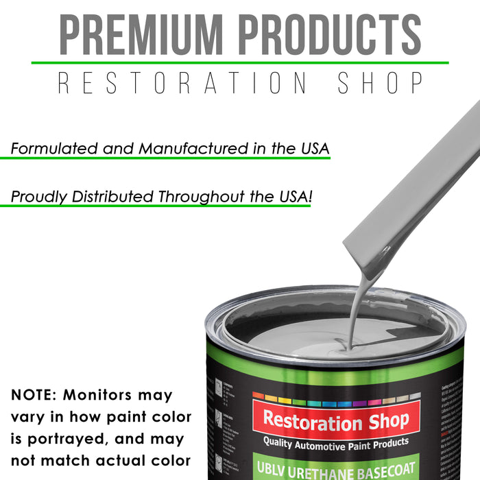 Mesa Gray - LOW VOC Urethane Basecoat Auto Paint - Gallon Paint Color Only - Professional High Gloss Automotive, Car, Truck Refinish Coating