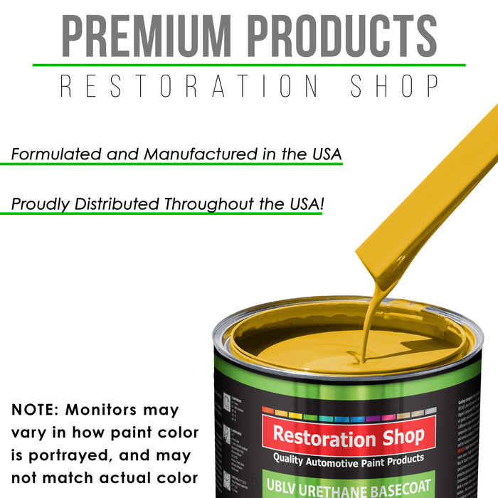 Canary Yellow - LOW VOC Urethane Basecoat Auto Paint - Quart Paint Color Only - Professional High Gloss Automotive Coating
