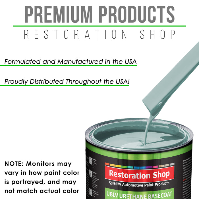 Diamond Blue - LOW VOC Urethane Basecoat with Premium Clearcoat Auto Paint - Complete Slow Gallon Paint Kit - Professional High Gloss Automotive Coating
