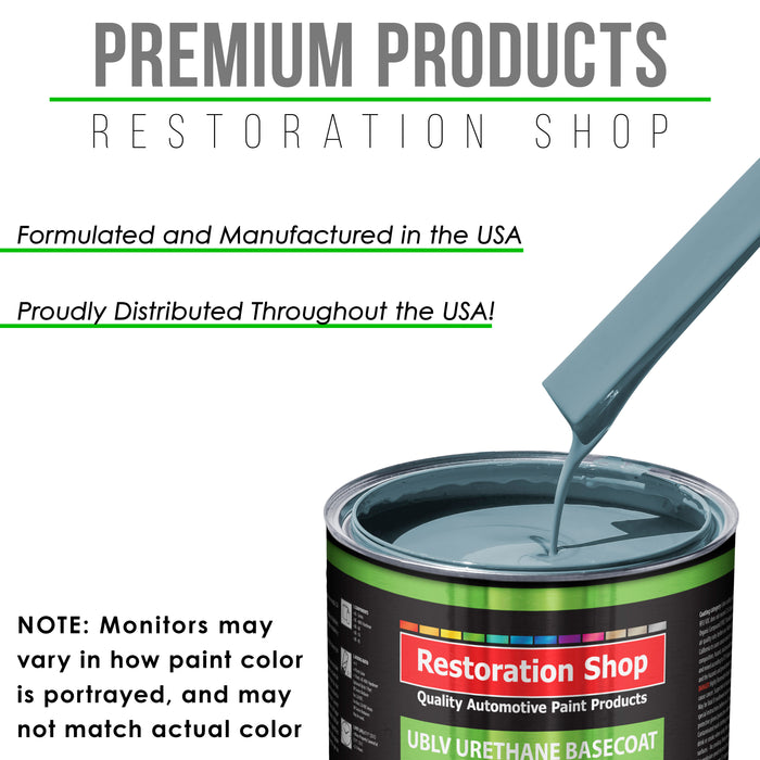 Glacier Blue - LOW VOC Urethane Basecoat Auto Paint - Quart Paint Color Only - Professional High Gloss Automotive Coating