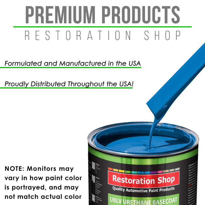 Speed Blue - LOW VOC Urethane Basecoat with Clearcoat Auto Paint - Complete Medium Quart Paint Kit - Professional High Gloss Automotive Coating
