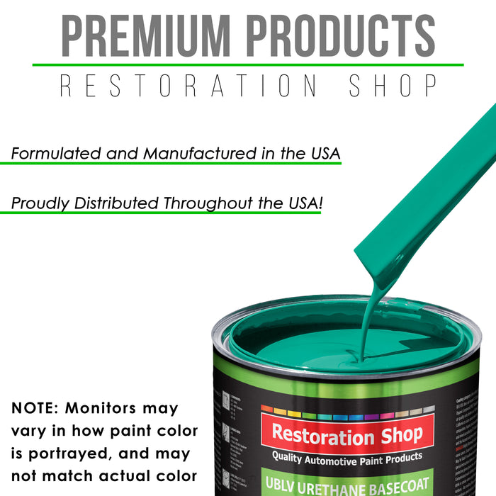 Tropical Turquoise - LOW VOC Urethane Basecoat with Clearcoat Auto Paint - Complete Medium Quart Paint Kit - Professional High Gloss Automotive Coating