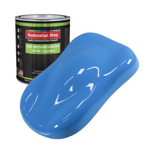 Grabber Blue - LOW VOC Urethane Basecoat Auto Paint - Gallon Paint Color Only - Professional High Gloss Automotive, Car, Truck Refinish Coating