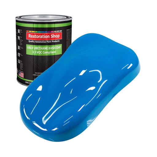 Coastal Highway Blue - LOW VOC Urethane Basecoat Auto Paint - Gallon Paint Color Only - Professional High Gloss Automotive, Car, Truck Refinish Coating