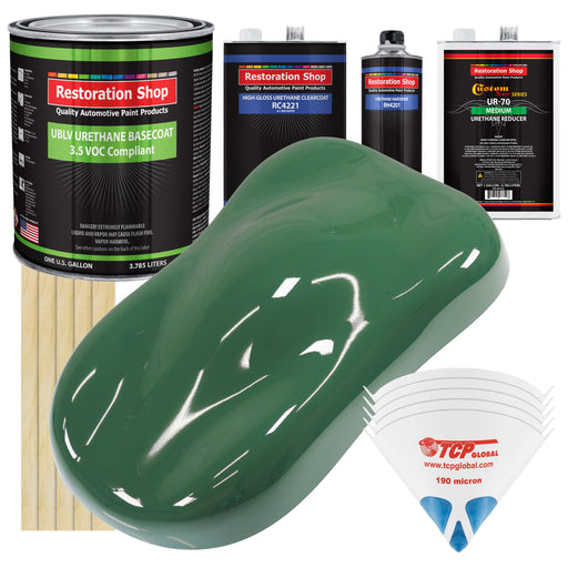 Transport Green - LOW VOC Urethane Basecoat with Clearcoat Auto Paint - Complete Medium Gallon Paint Kit - Professional High Gloss Automotive Coating