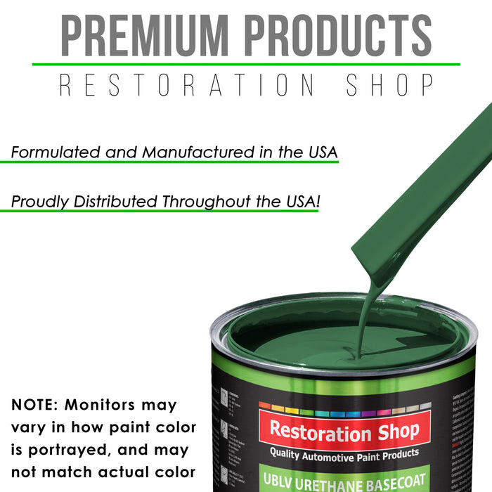 Transport Green - LOW VOC Urethane Basecoat with Premium Clearcoat Auto Paint - Complete Medium Quart Paint Kit - Professional High Gloss Automotive Coating