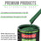 Transport Green - LOW VOC Urethane Basecoat with Clearcoat Auto Paint - Complete Medium Quart Paint Kit - Professional High Gloss Automotive Coating