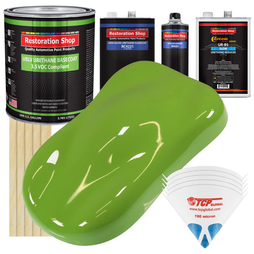 Sublime Green - LOW VOC Urethane Basecoat with Clearcoat Auto Paint - Complete Slow Gallon Paint Kit - Professional High Gloss Automotive Coating
