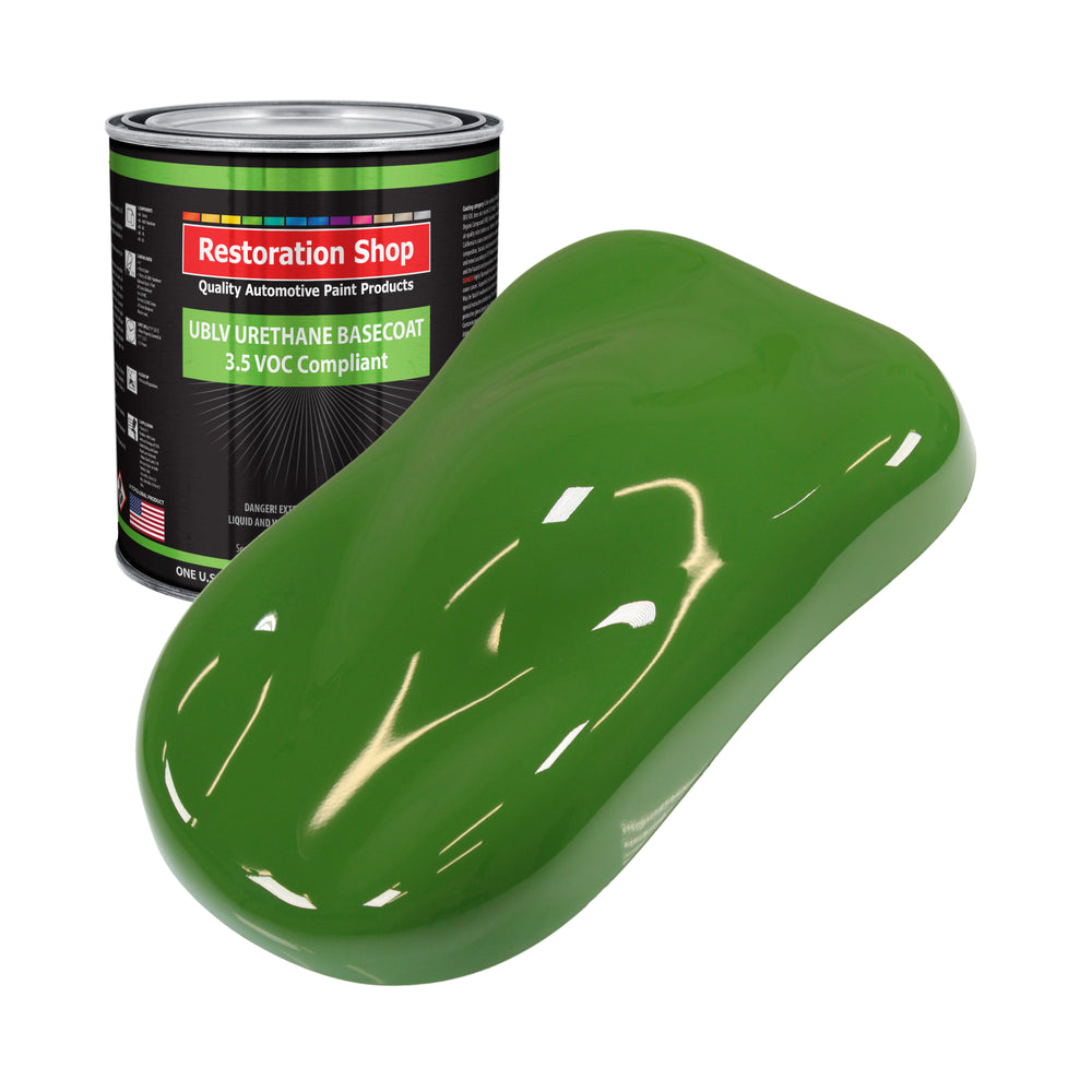 Deere Green - LOW VOC Urethane Basecoat Auto Paint - Gallon Paint Color Only - Professional High Gloss Automotive, Car, Truck Refinish Coating