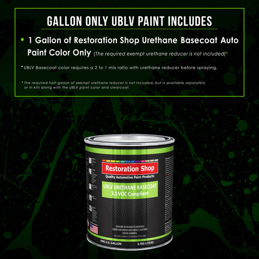 Speed Green - LOW VOC Urethane Basecoat Auto Paint - Gallon Paint Color Only - Professional High Gloss Automotive, Car, Truck Refinish Coating